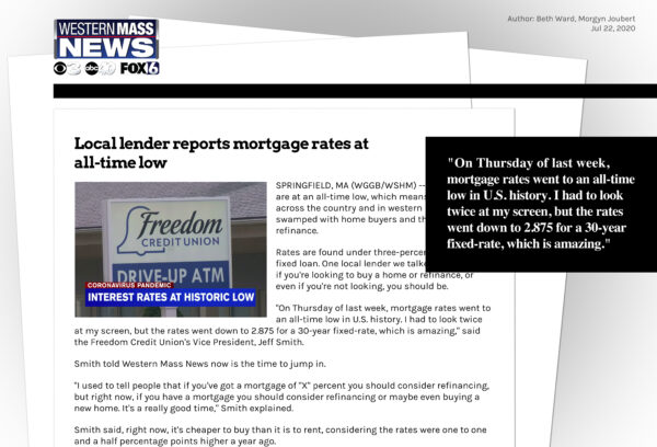 Freedom Credit Union on Western Mass News