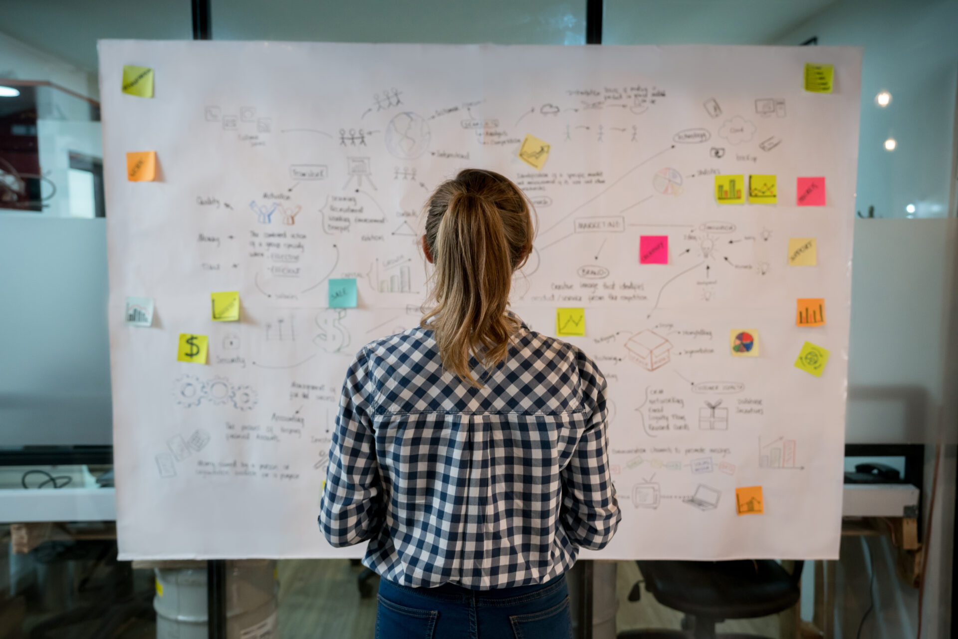 image of woman at whiteboard for blog about what is inbound marketing